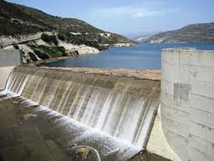 Dam generating electricity